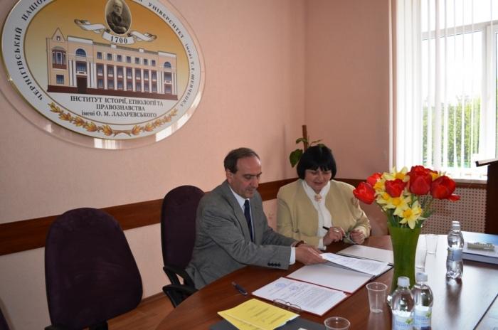 Угода про співробітництво з Чернігівським національним педагогічним університетом імені Т.Г.Шевченка