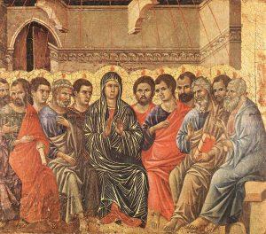Твір Дуччо ді Буонінсенья – «Зіслання Святого Духа», 1308–1311